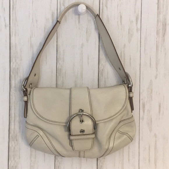 Coach Handbags - Off White Coach Hobo Shoulder Bag